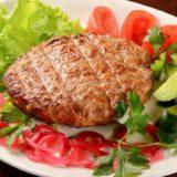Горячие блюда-Бифштекс говяжий с луком БЛ