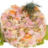 Оливье с колбасой салат БЛ